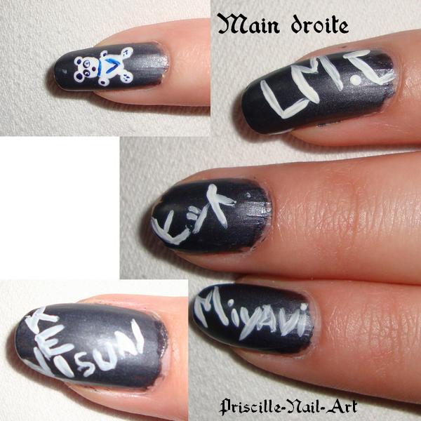 Nail Art Thème Visual Kei