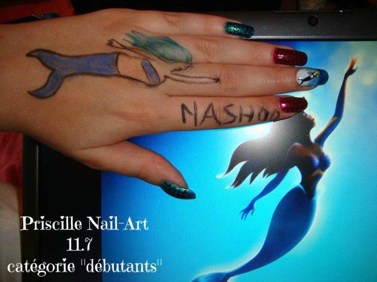 Résultat Concours Facebook : Nail Art Sirène