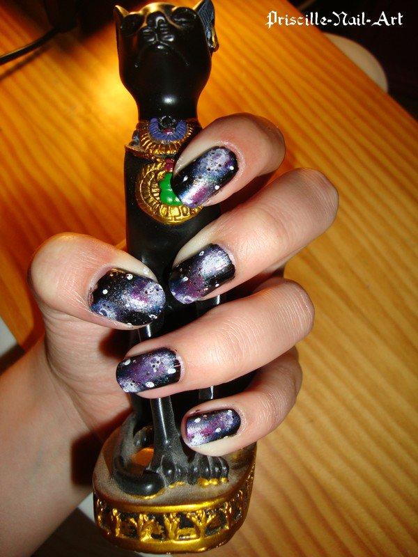 Nail Art Galaxy Ongles Courts