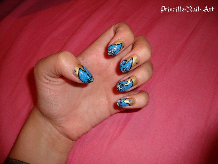 Nail Art Fleurs 1