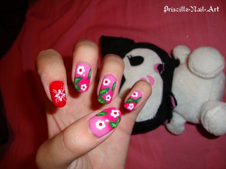 Nail Art style Fleurs de Cerisiers 2