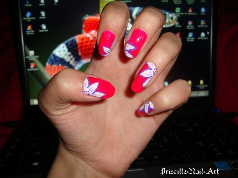 Nail Art Fleurs 2