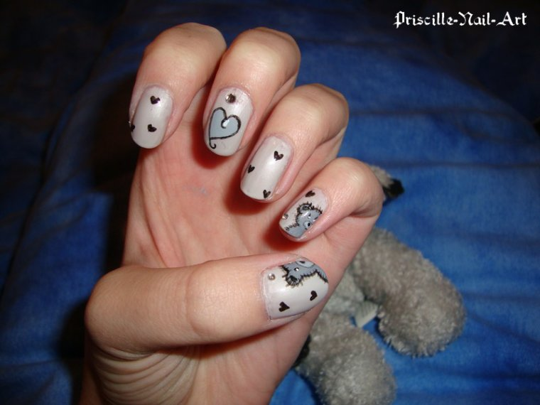Nail Art Ours Peluche
