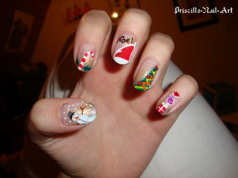 Nail Art Noël 1