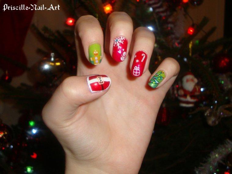 Nail Art Noël 2