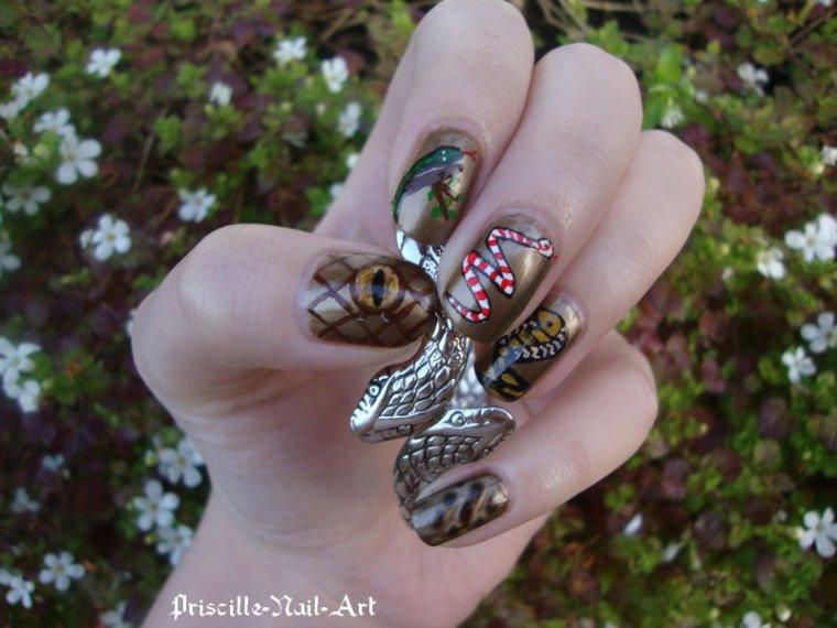 Nail Art Serpent