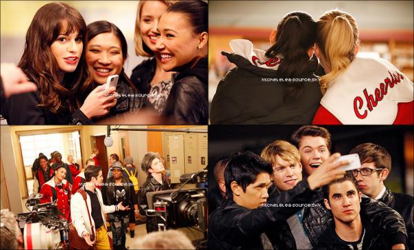 Glee - Photos prises sur le tournage de l'épisode « Michael ».
