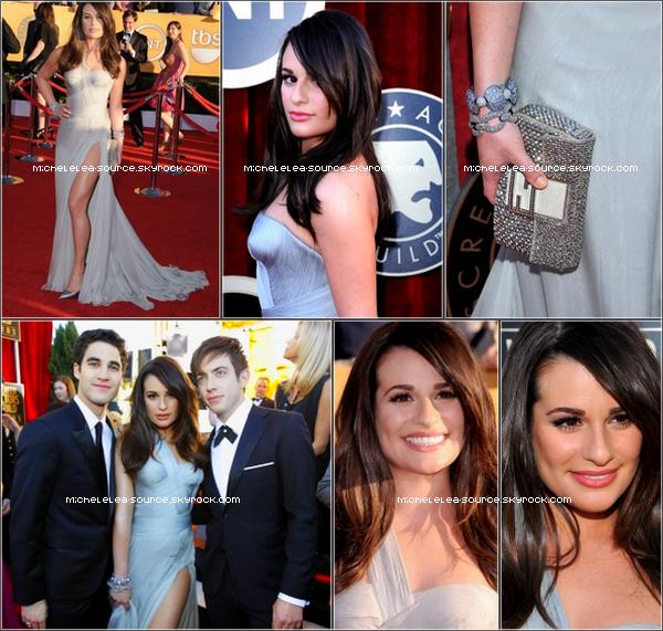 29/01/12 - Lea était à la 18ème cérémonie des Screen Actors Guild Awards ! Que penses-tu de sa robe ?
