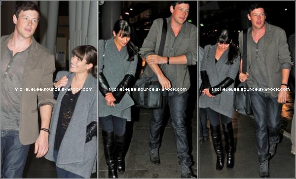 25/03/12 - Lea a été vue (enfin ...) à l'aéroport en compagnie de Cory Monteith (?)