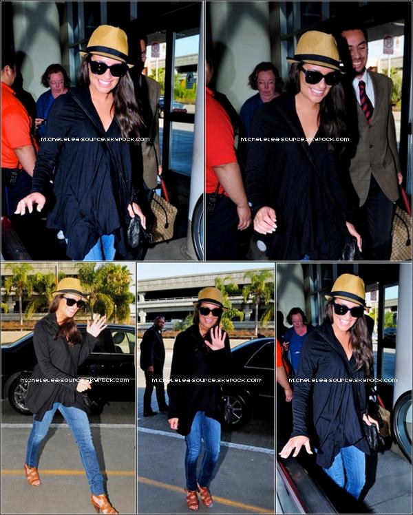06/04/12 - Lea a été aperçue à l'aéroport LAX à Los Angeles. Top ou Flop ?