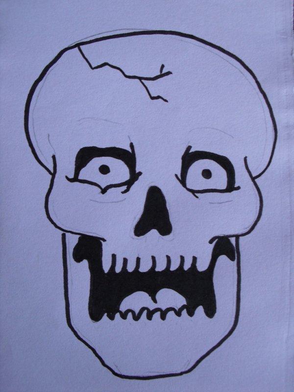 Blog de ori73 page 2 se que j 39 aime - Dessiner une tete de mort ...