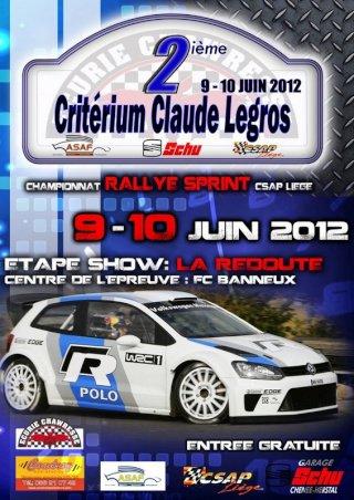 Rallye sprint Claude Legros 2012