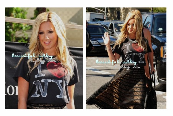 """Le 7 Septembre : Ashley & son amie Vanessa Hudgens se sont faient des Tatouages ! Ash' s'en ait offert un sur le pied """"jamais seule"""" ! + Le 9 Septembre : Ashley à la Luca Luca - Spring 2012 Mercedes-Benz Fashion !"""