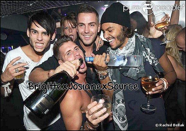 - Benoit, Daniel, Simon, et John mais également son  ex  Benjamin Bove au Queen de Paris le 19septembre !