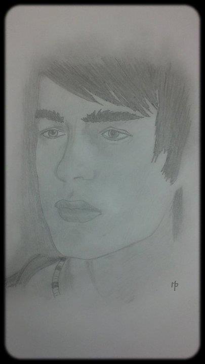 Un visage un dessin