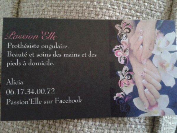 Ma carte de visite. Passion'Elle.
