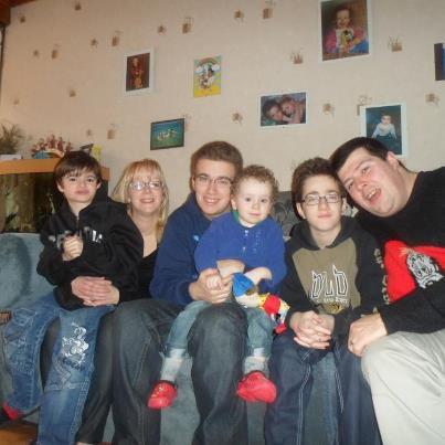 Mon fils Antonio et sa petite famille, mars 2013