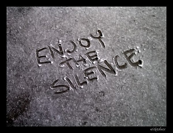Just Enjoy The Silence ...!