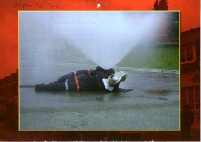 pompiers lors d une manoeuvre