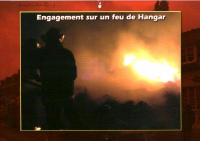 intervention pompiers de la somme sur un feu d hangar