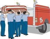 hommage au pompiers décedés en service