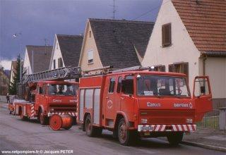 intervention pompiers avec berliet