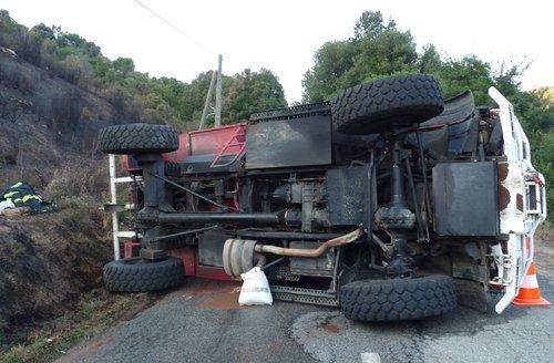accident camion pompier haute corse