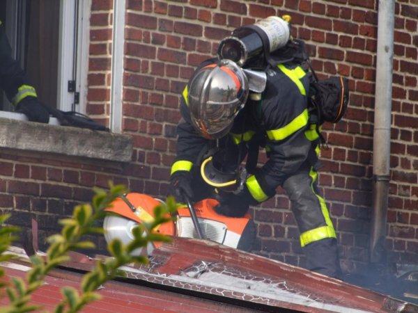 feu maison pompiers de la somme