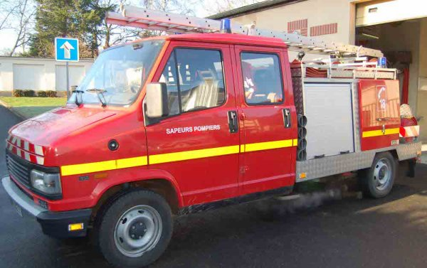 camion de pompiers de Gueux