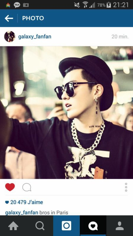 Kris, Baekhyun, Sehun Instagram