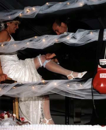 mariage sur un ring de boxe
