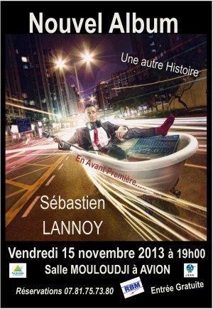 """concert live de Sébastien Lannoy - nouvel album """"Une  autre histoire"""""""