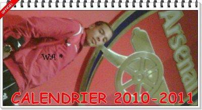 CALENDRIER 2010 / 2011