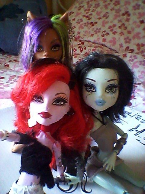 un ptit selfie entre ghoule! #Opera , Frankira , Clawdy