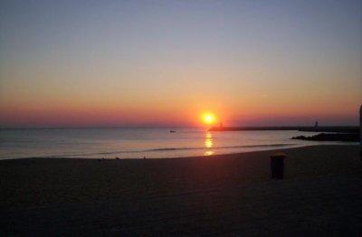 Photo 4 Couché de soleil sur la Plage de Faro (Portugal)