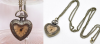 Collier coeur montre