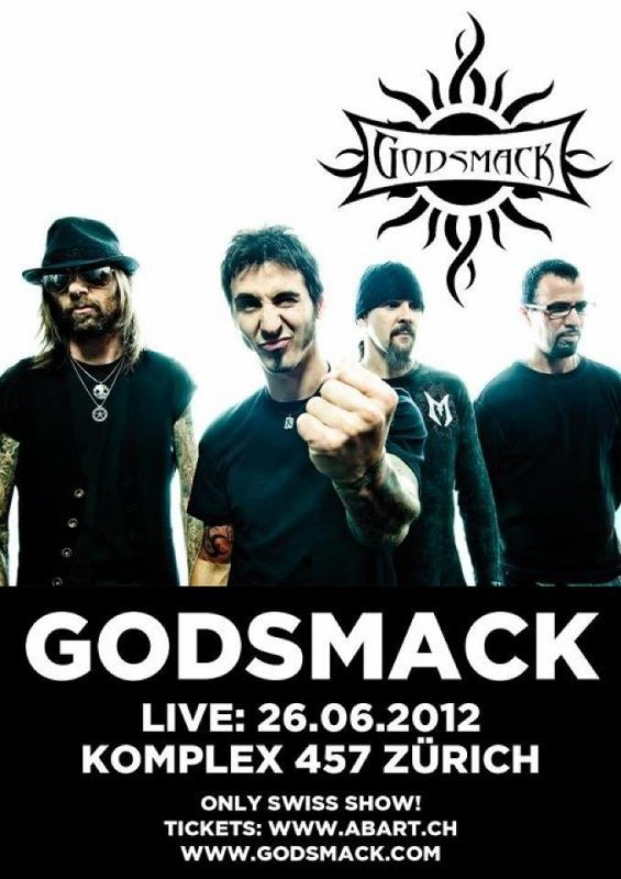 Godsmack à Zurich !!!!!!!!!!!! OMFG