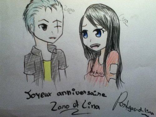 Joyeux anniversaire Zoro (One Piece) et Lina