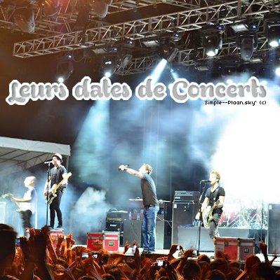 Leurs dates de Concerts
