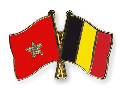 drapeau de la belgique et maroc