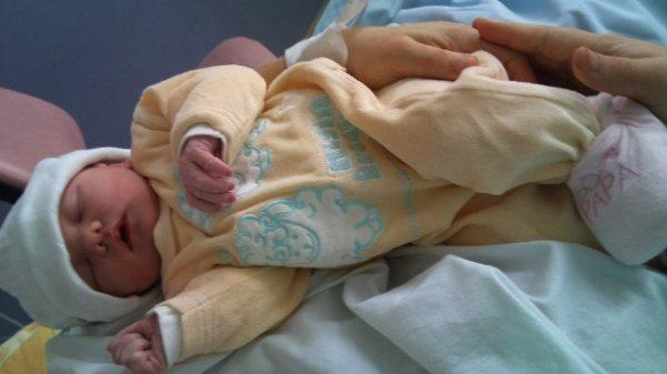 Louanne le jour d sa naissance
