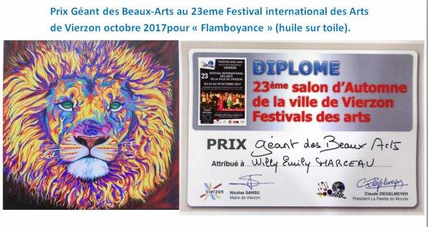 Prix Géants des Beaux-Arts  festival international des Arts de Vierzon 2017