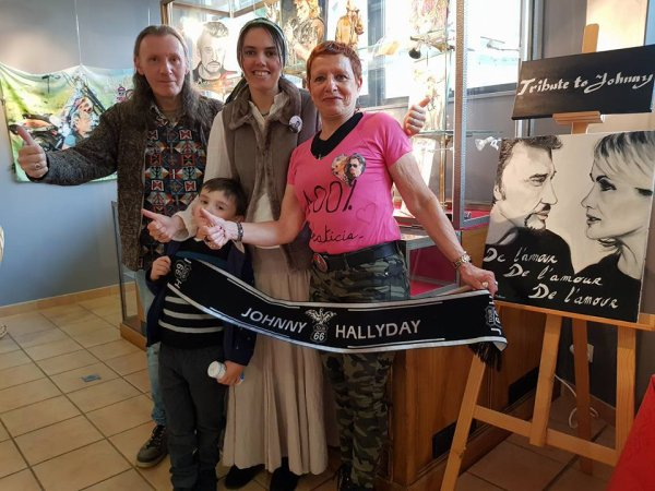 Hommage à Johnny Hallyday  organisé par Willy et Emily Marceau