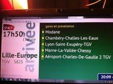 TGV 5825 destination Lille-Europe (Jumelé au TGV 9850 provenance de Milan pour Bruxelles  )