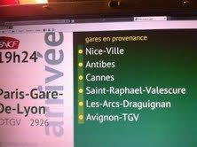IDTGV 2926 en provenance de Nice-Ville (jumélé au TGV 6190 provenance de Monaco )