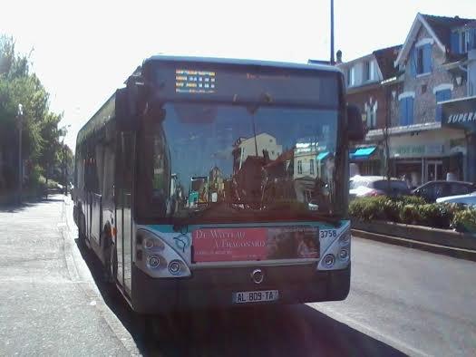 La 3758 du 210 pour Vincennes Métro , avant son service