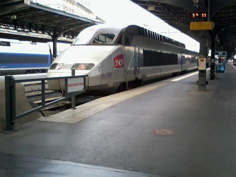 La rame TGV n°552 à Paris-Est