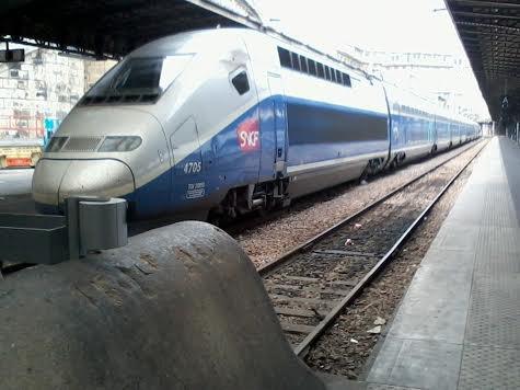 La rame TGV EURODUPLEX n°4705 à Paris-Est