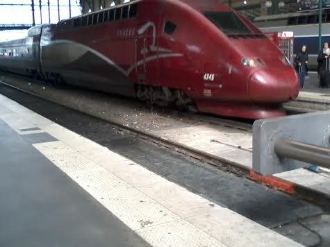La rame Thalys 4345 à la gare du Nord