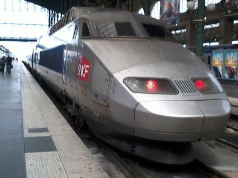 La rame TGV PSE n°29  à la gare du Nord